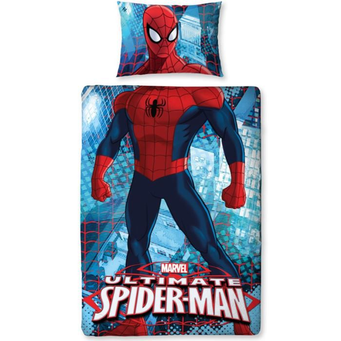parure de lit r versible spiderman ultimate cit achat. Black Bedroom Furniture Sets. Home Design Ideas