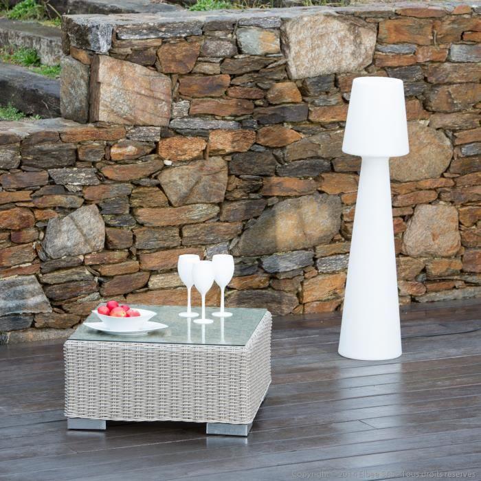Table basse de jardin pour canap de jardin r sine tress e - Table pour canape ...
