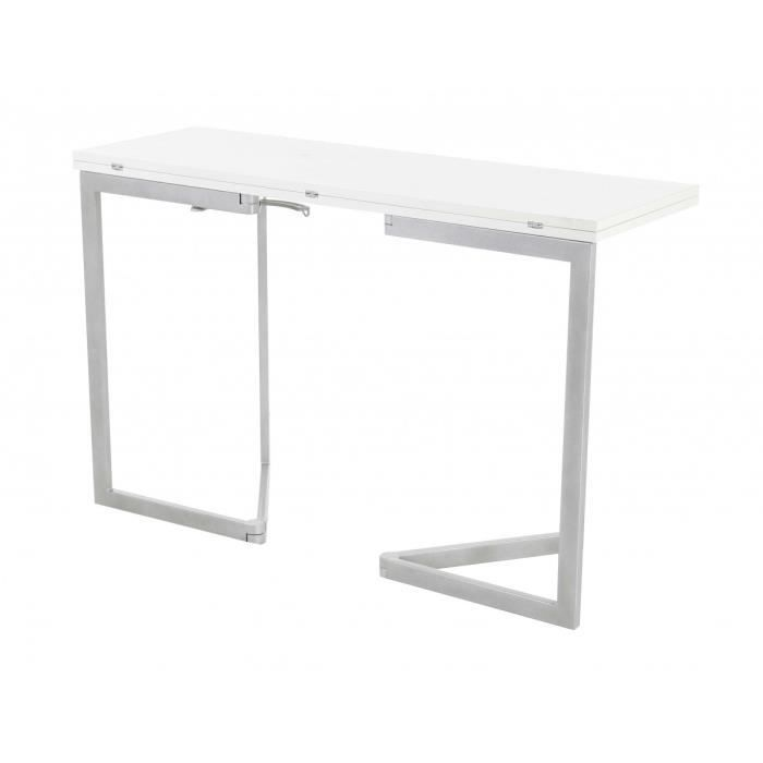 Console extensible blanche loona id 39 click achat vente console console extensible blanche - Cdiscount console extensible ...