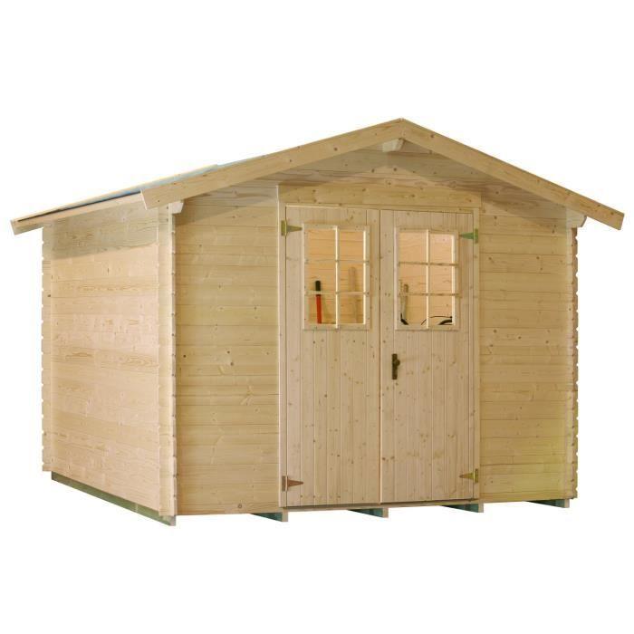 lv 141 abri de jardin bois 4 51 m 19mm achat vente abri jardin chalet abri de jardin. Black Bedroom Furniture Sets. Home Design Ideas
