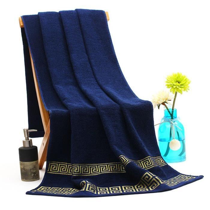 Serviettes de plage de bain vacances 70 140cm 100 coton achat vente serviettes de bain - Maison de vacances linge ...