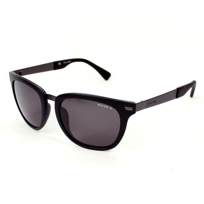 lunettes de soleil police s8749 noir mat verre noir achat vente lunettes de soleil cdiscount. Black Bedroom Furniture Sets. Home Design Ideas
