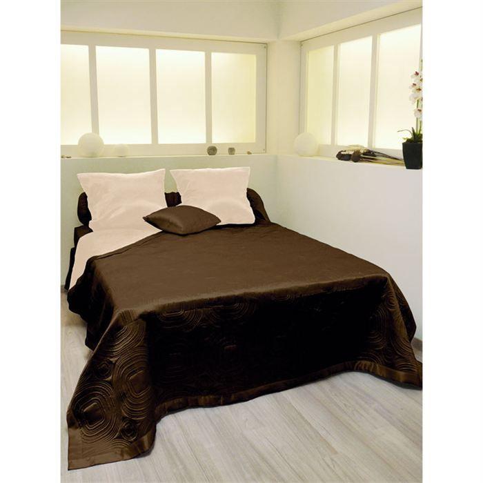 couvre lit matelass double face satin achat vente jet e de lit boutis cdiscount. Black Bedroom Furniture Sets. Home Design Ideas