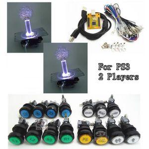 JOYSTICK - MANETTE 1 Kit De 5 V Éclairage 2 Joueurs Pc Ps 3 2 En 1 Ar