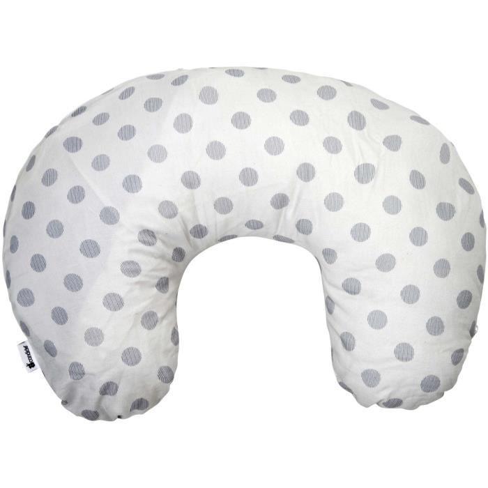 candide coussin d 39 allaitement transformable pois blanc et gris achat vente coussin. Black Bedroom Furniture Sets. Home Design Ideas
