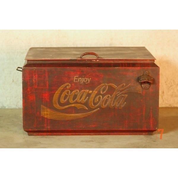 Ancienne glaci re coca cola achat vente objet - Glaciere ancienne ...