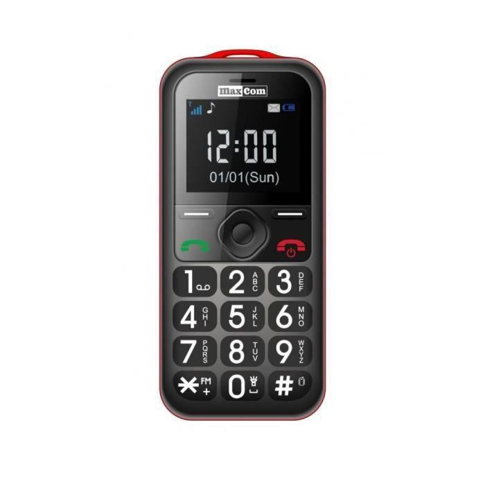 t l phone portable pour seniors maxcom mm560 noirberry. Black Bedroom Furniture Sets. Home Design Ideas