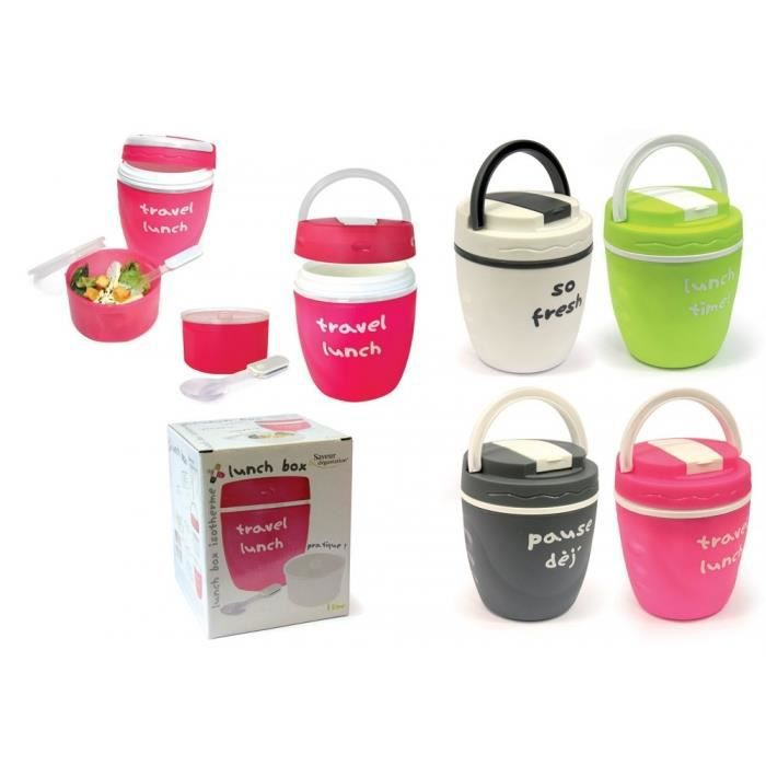 Lunch box bento isotherme blanc achat vente lunch box bento lunch box bento isotherm for Bento lunch box isotherme