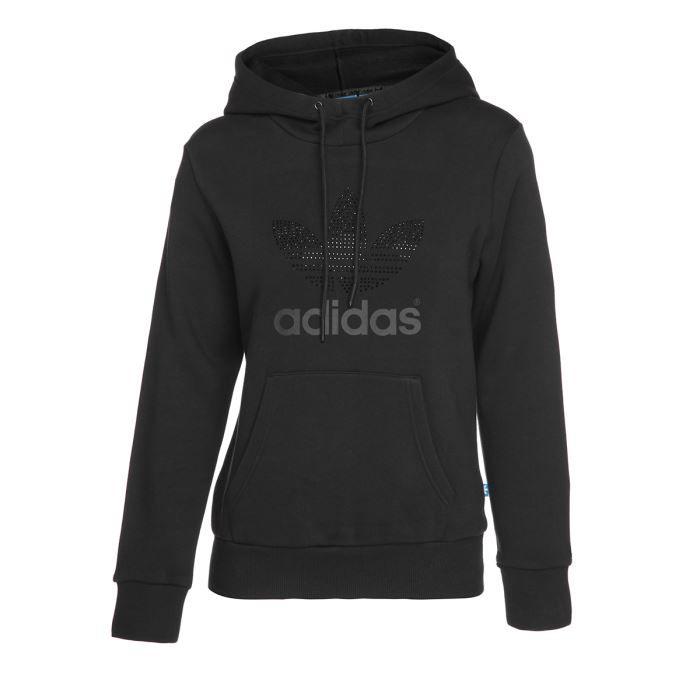 adidas sweat capuche femme noir achat vente sweatshirt adidas sweat capuche femme cdiscount. Black Bedroom Furniture Sets. Home Design Ideas