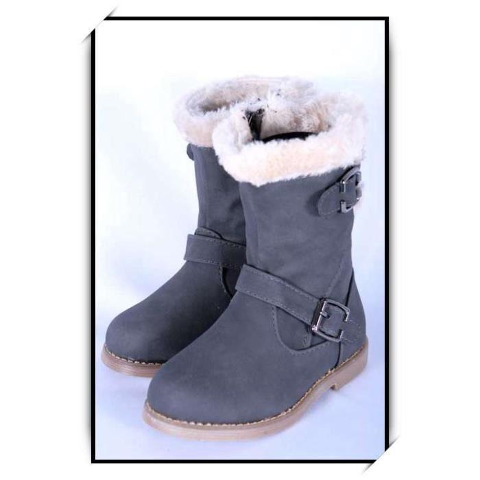 BOTTE Chaussures bottes fille enfant simili cuir B902