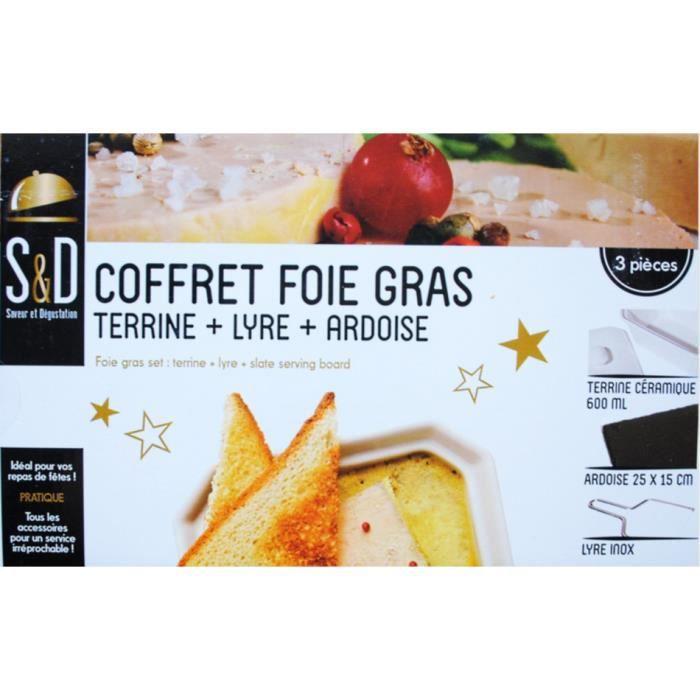 coffret foie gras 3 pieces terrine plateau lyre cu achat. Black Bedroom Furniture Sets. Home Design Ideas
