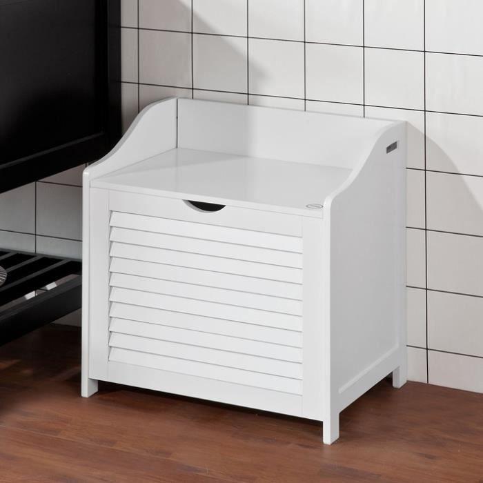banc pour salle de bain amazing affordable banc coffre rangement pvc taupe xx cm pliable with. Black Bedroom Furniture Sets. Home Design Ideas