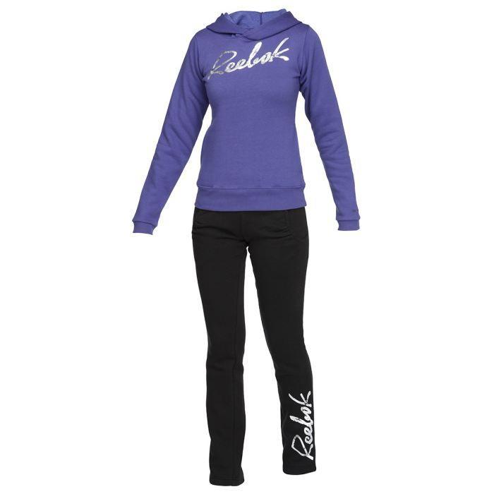 reebok surv tement femme violet et noir achat vente surv tement de sport cdiscount. Black Bedroom Furniture Sets. Home Design Ideas