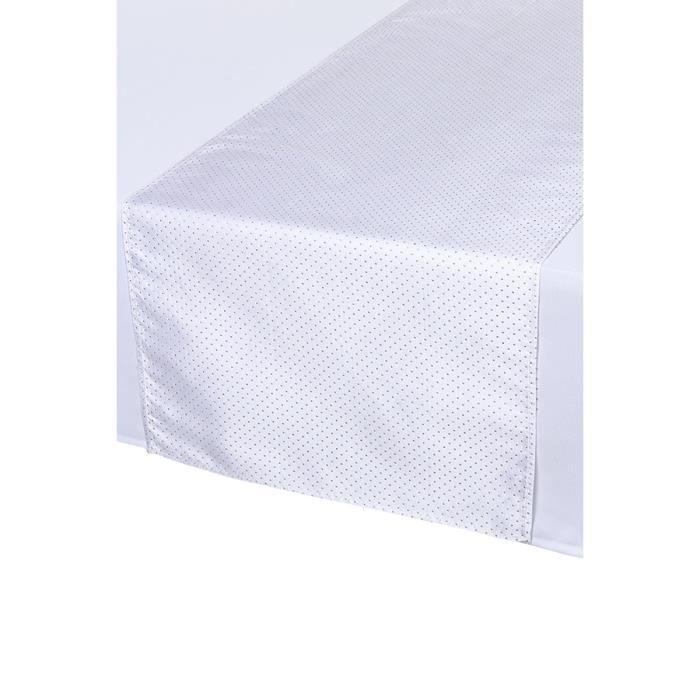 Chemin de table blanc et dor achat vente chemin de for Chemin de table dore