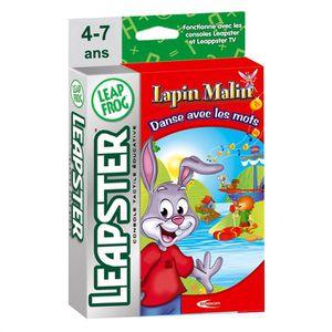 """JEU CONSOLE EDUCATIVE Leapfrog Leapster Lapin Malin """"Danse avec les mots"""