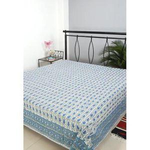 couvre lit indien achat vente couvre lit indien pas cher cdiscount. Black Bedroom Furniture Sets. Home Design Ideas