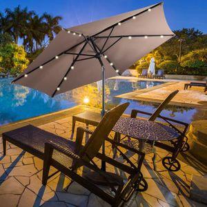 parasol avec led achat vente parasol avec led pas cher. Black Bedroom Furniture Sets. Home Design Ideas