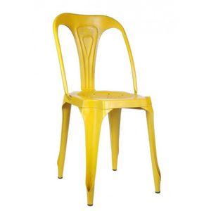 Chaises de salle a manger jaune achat vente chaises de - Chaise style industriel ...