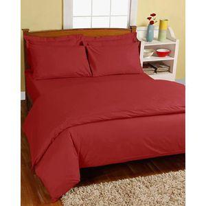 Parure de lit rouge achat vente parure de lit rouge for Parure de lit rouge