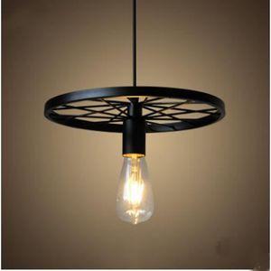 lustre noire fer achat vente lustre noire fer pas cher cdiscount. Black Bedroom Furniture Sets. Home Design Ideas