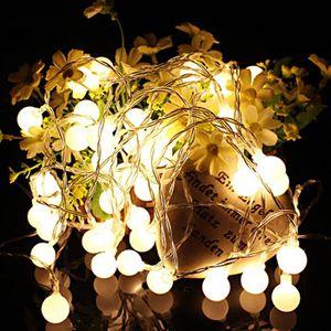 GUIRLANDE DE NOËL Guirlande Lunineuses Boules, 10 Mètres 100 LEDs Bl