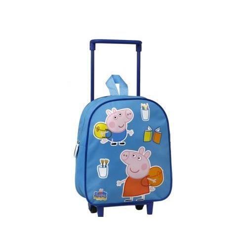 peppa pig sac a dos avec roulettes pour enfant bleu achat vente sac dos 5205698140143. Black Bedroom Furniture Sets. Home Design Ideas