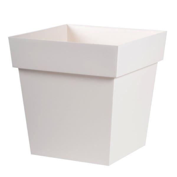 Pot toscane carr 38l blanc lin achat vente jardini re - Carre blanc soldes ...