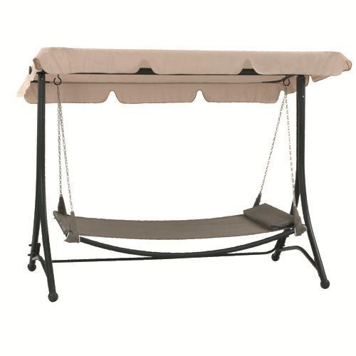 hamac balancelle de jardin m tal sable achat vente. Black Bedroom Furniture Sets. Home Design Ideas
