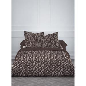 housse de couette et 2 taies d 39 oreiller girafe marron achat vente parure de couette cdiscount. Black Bedroom Furniture Sets. Home Design Ideas