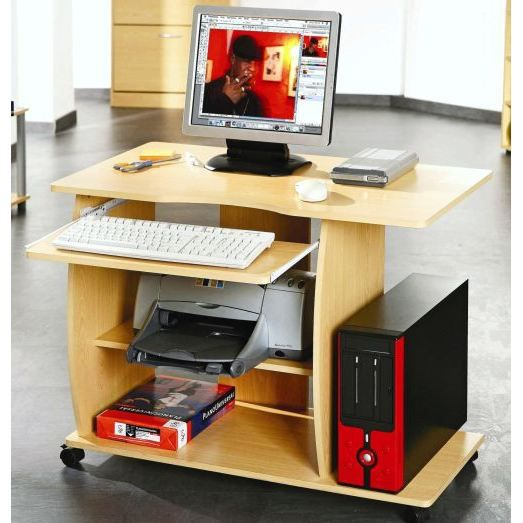 bureau multimedia sur roulettes efe achat vente bureau bureau multimedia roulettes cdiscount. Black Bedroom Furniture Sets. Home Design Ideas