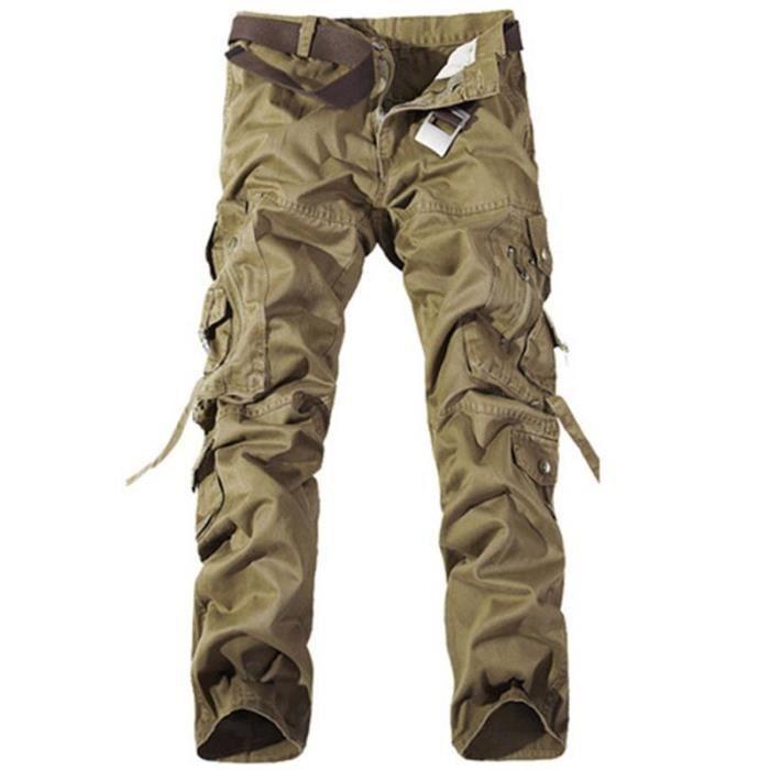Adultes combat pantalons treillis militaire cam kaki achat vente pantalon cdiscount - Pantalon multipoche homme ...