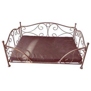 lit pour chiens en fer forge achat vente lit pour chiens en fer forge pas cher cdiscount. Black Bedroom Furniture Sets. Home Design Ideas