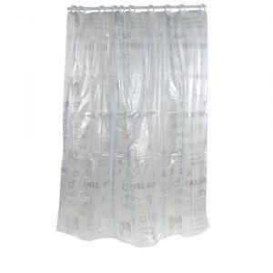 Rideau de douche pvc 180x200 cm mots achat vente - Enlever moisissure rideau de douche ...