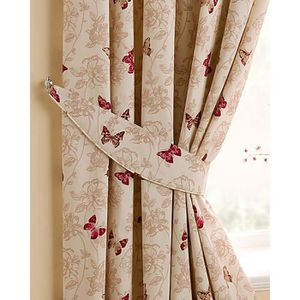 rideaux rouge et beige achat vente rideaux rouge et beige pas cher cdiscount. Black Bedroom Furniture Sets. Home Design Ideas