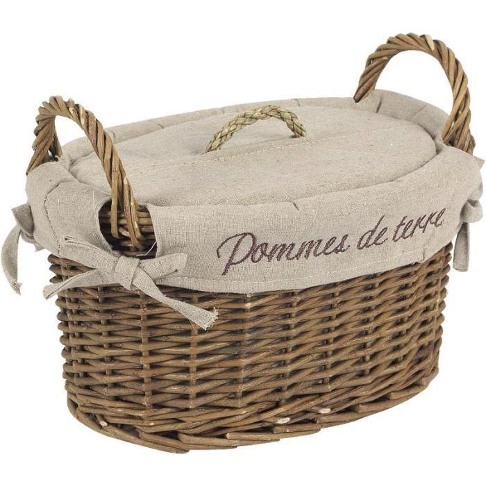 corbeille pommes de terre en osier achat vente boites de conservation corbeille pommes. Black Bedroom Furniture Sets. Home Design Ideas