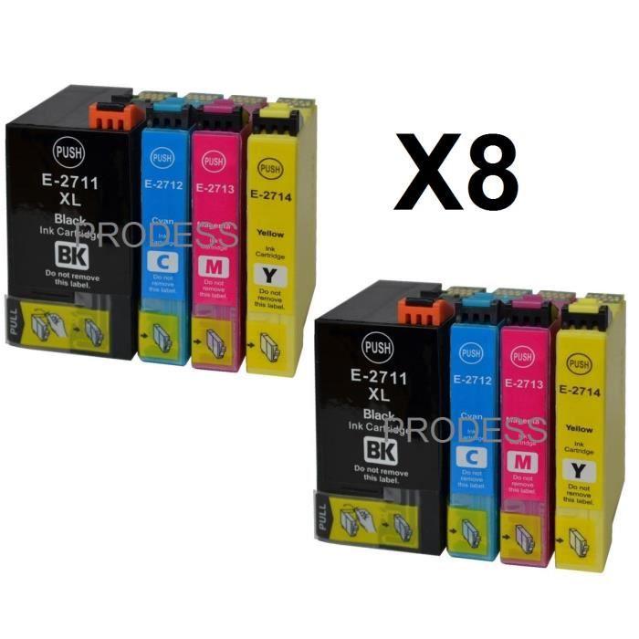 8 cartouches d 39 encre compatibles epson t27xl avec. Black Bedroom Furniture Sets. Home Design Ideas