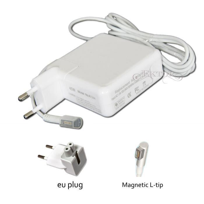 45w chargeur adaptateur pour apple macbook air prix. Black Bedroom Furniture Sets. Home Design Ideas