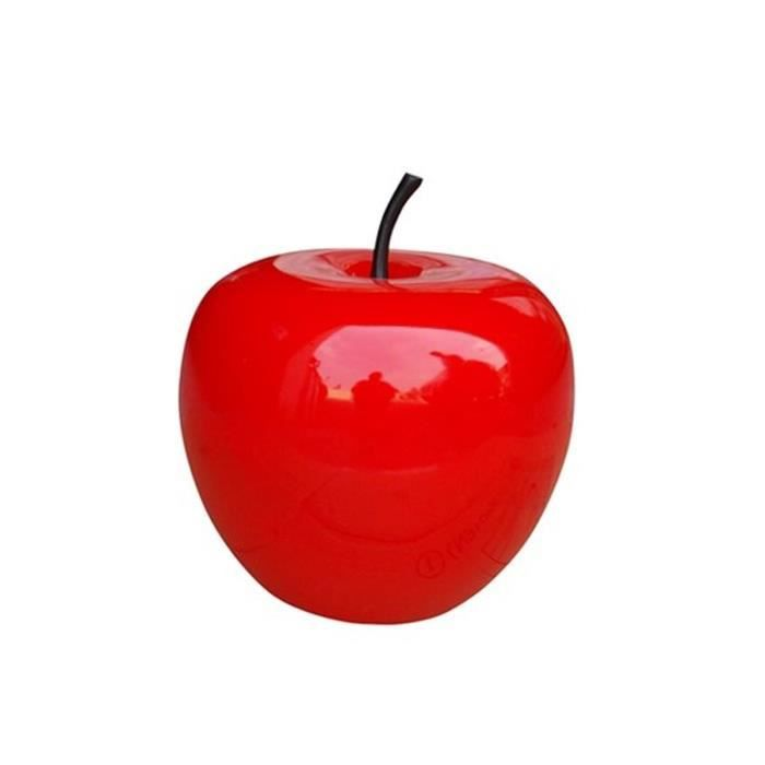 Pomme en polyresine 25 cm rouge achat vente objet for Objet deco rouge cuisine