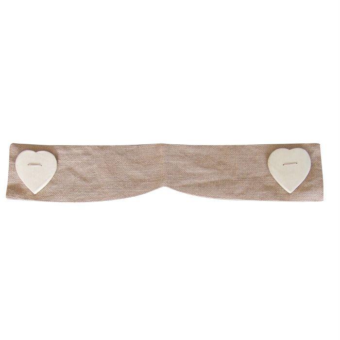 embrasse jute en forme coeur naturel achat vente embrasse cordon jute bois cdiscount. Black Bedroom Furniture Sets. Home Design Ideas