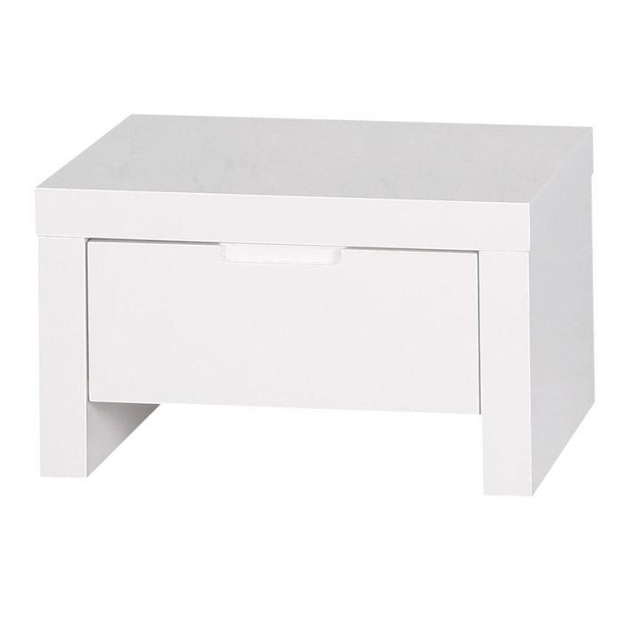 chevet 1 tiroir laqu blanc l a id 39 clik associez ce chevet au lit et la commode de la gamme. Black Bedroom Furniture Sets. Home Design Ideas