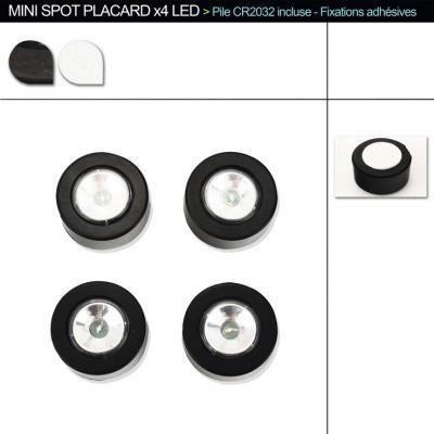 4 mini lampe led achat vente 4 mini lampe led cdiscount. Black Bedroom Furniture Sets. Home Design Ideas