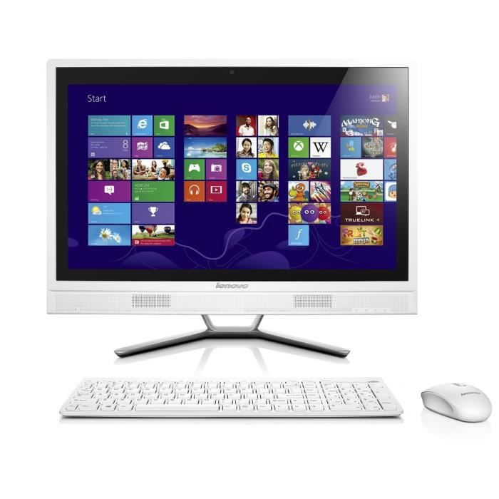 Lenovo c365 ordinateur de bureau tout en un 20 blanc amd - Choix d un ordinateur de bureau ...