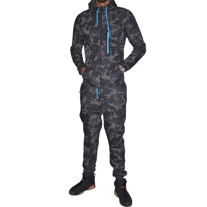 vs9 ensemble complet jogging homme ensemble camouflage k172 noir turquoise fluo noir. Black Bedroom Furniture Sets. Home Design Ideas