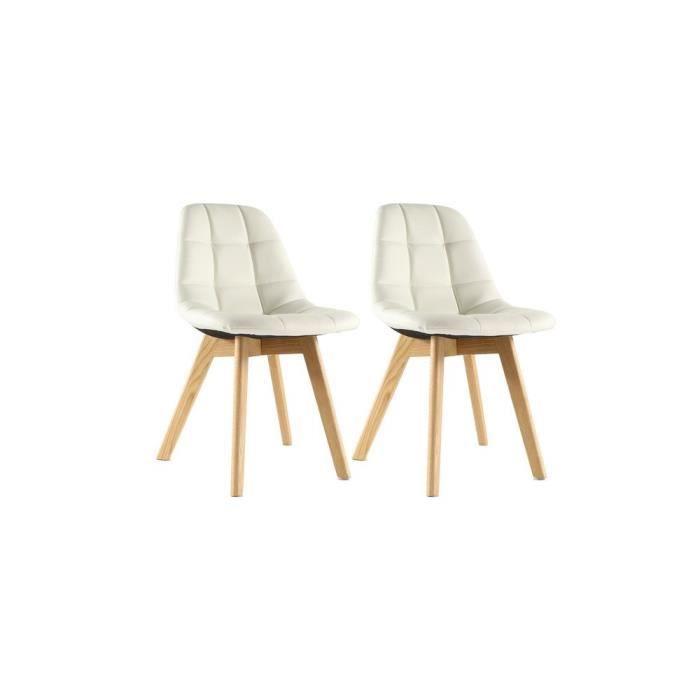 chaises de salle a manger blanche en simili achat vente chaises de salle a manger blanche en. Black Bedroom Furniture Sets. Home Design Ideas