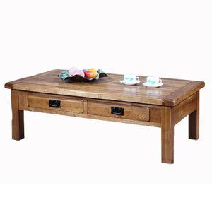 table basse en bois avec tiroirs en chene massif achat vente table basse en bois avec. Black Bedroom Furniture Sets. Home Design Ideas