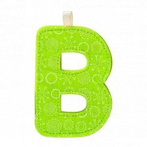 PLAQUE DE PORTE Lettre décorative : Lettre B