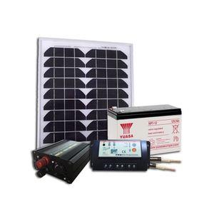 kit panneau solaire avec batterie achat vente kit panneau solaire avec batterie pas cher. Black Bedroom Furniture Sets. Home Design Ideas