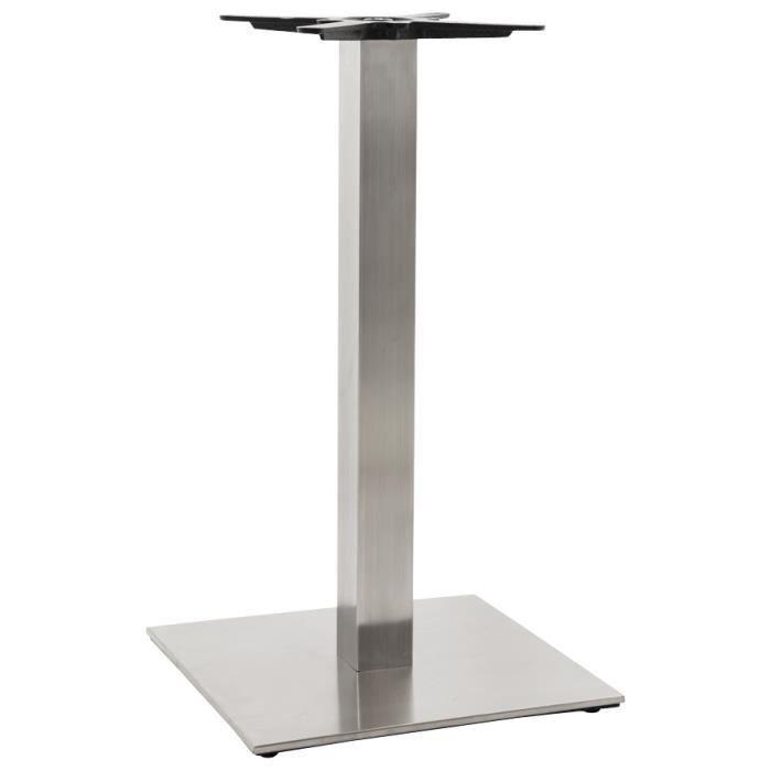 Pied de table 39 karo 39 90 en acier bross achat vente - Pied de table hauteur 90 ...