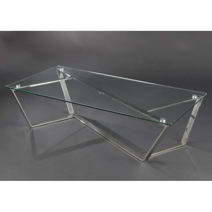 Table basse en verre design dimensions haute achat vente table basse - Table salon verre design ...