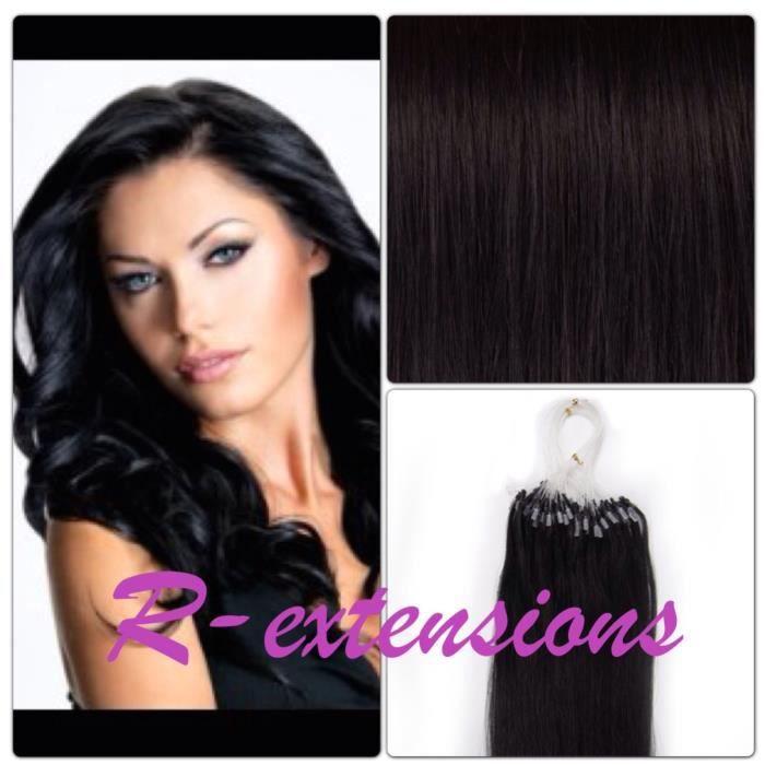 200 extensions de cheveux pose a froid loop 50cm noir achat vente perruque postiche 200. Black Bedroom Furniture Sets. Home Design Ideas
